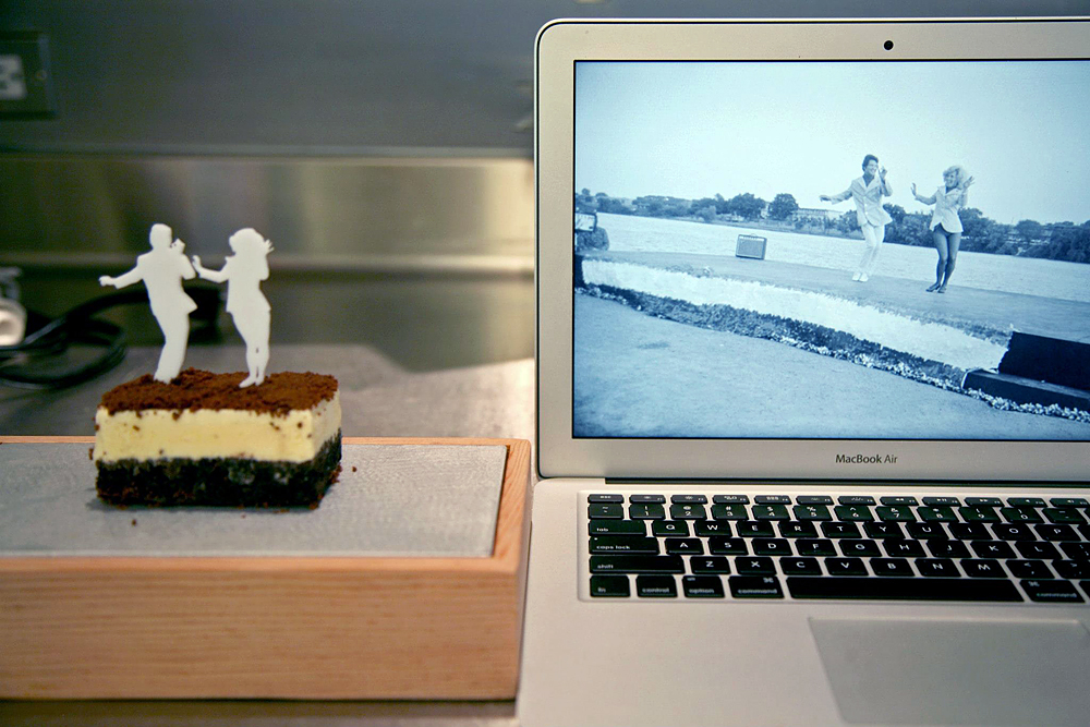 "Dessert is based on Garry Winogrand's ""Kerrville, Texas"" (1977). Photo: Willa Koerner."