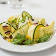 Zucchini Carpaccio, preserved lemon, kalamata olives