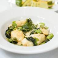 Ricotta Gnocchi, fava beans, fava leaves, parmesan cheese