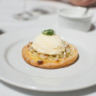 Candied Fennel Tart, star anise ice cream