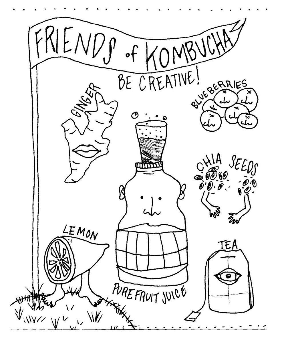 Friends of Kombucha. Illustration by Lila Volkas