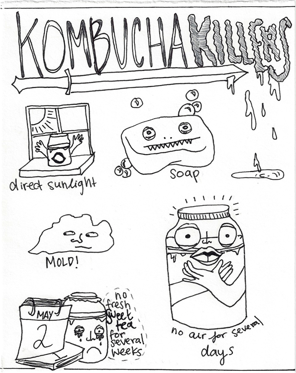 Kombucha Killers. Illustration by Lila Volkas