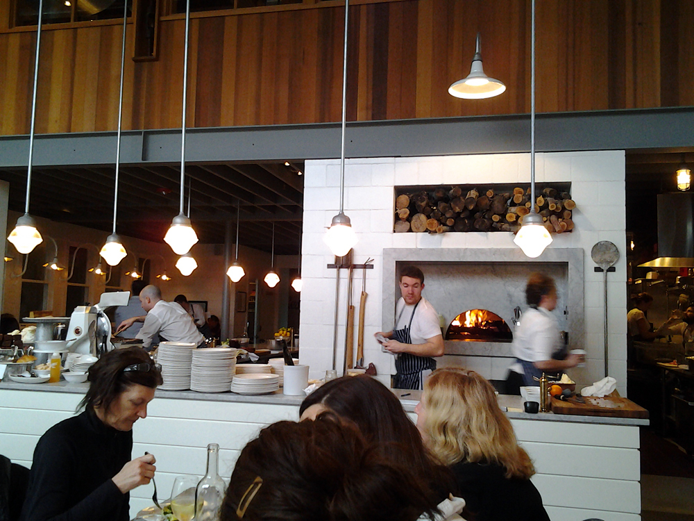 The open kitchen at The Whale Wins. Photo: Mary Ladd