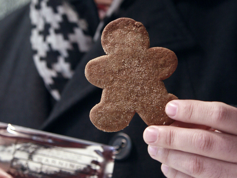 Marijuana gingerbread cookies, like this one sold at The Apothecarium in San Francisco, could easily appeal to kids. Photo: Jeff Chiu/AP