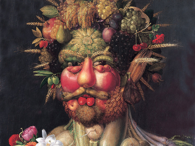 <em>Vertumnus</em>, Arcimboldo's portrait of Emperor Rudolph II. Photo: Wikimedia Commons
