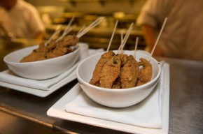 Fried chicken with blue cheese fondue. Photo courtesy of 1300 Fillmore