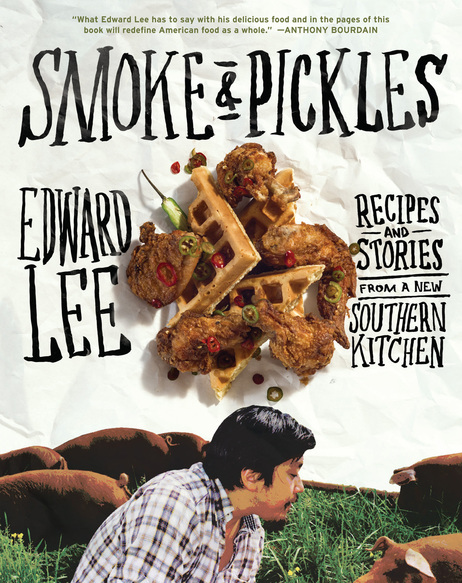 Edward Lee's first cookbook, <em>Smoke and Pickles: Recipes and Stories From a New Southern Kitchen, </em>features Korean-southern comfort food. <br /><figcaption class=