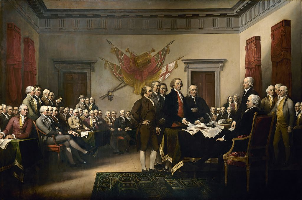 John Trumbull's painting, Declaration of Independence. Photography courtesy of US Capitol.