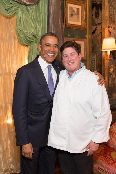 President Obama with Chef Jennifer Johnson. Photo courtesy of Hip Chick Farms