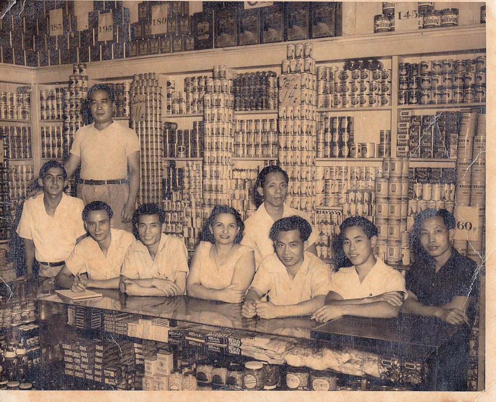 Grandpa at his store in Cuba