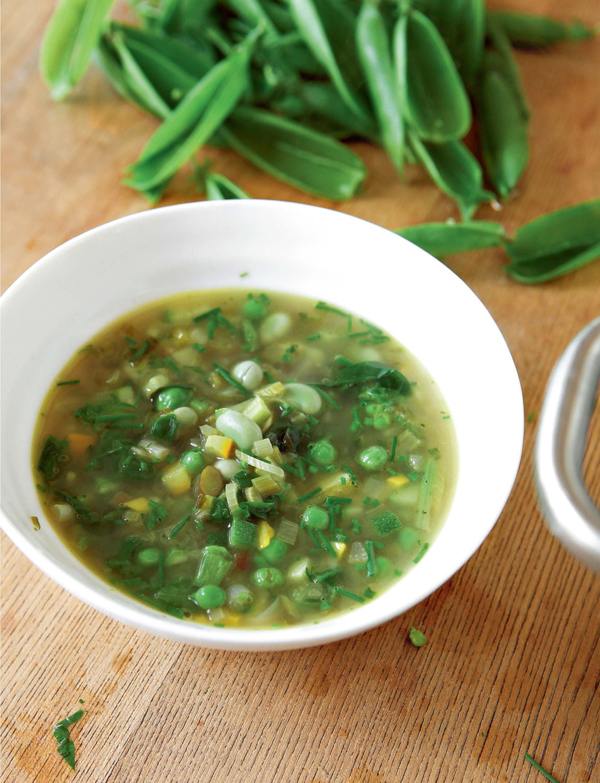 River Cottage Summer Garden Soup. Photo: Simon Wheeler