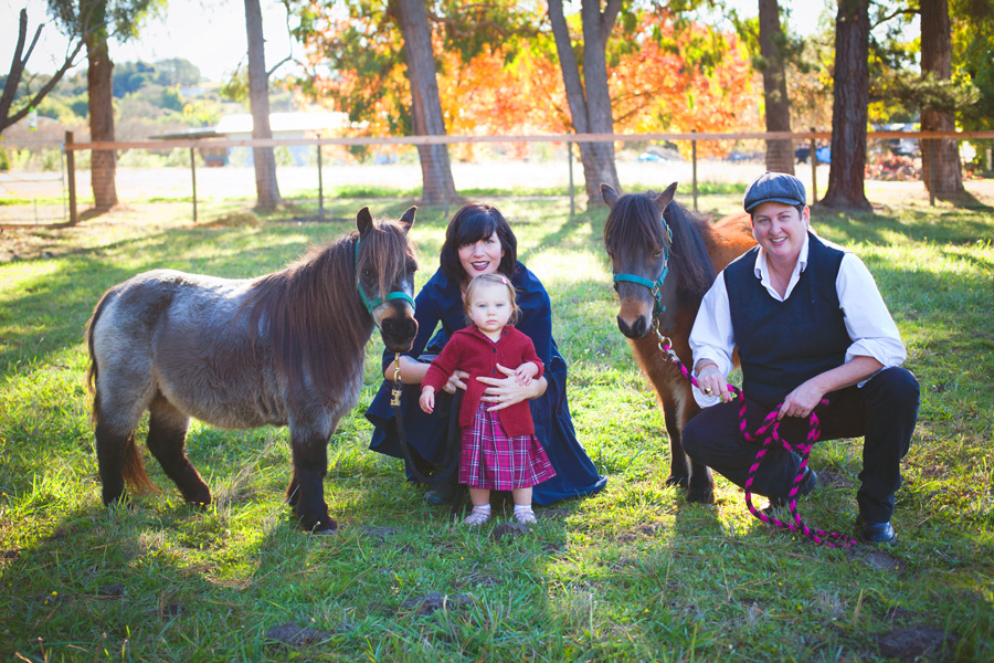 Serafina Palandech, Jennifer Johnson and their daughter Rubyrose at Hip Chick Farms. Photo courtesy of Hip Chick Farms.