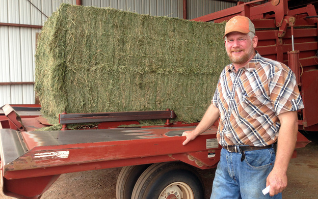 Third-generation Oklahoma farmer Scott Neufeld says crop insurance is important to his family's business. Photo: Tamara Keith/NPR