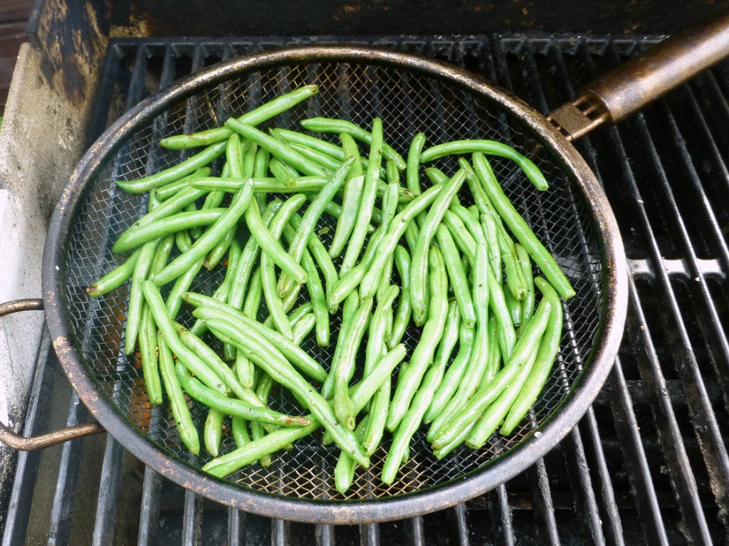 Grilled Green Beans with Fresh Horseradish. Photo: Peter Ogburn for NPR