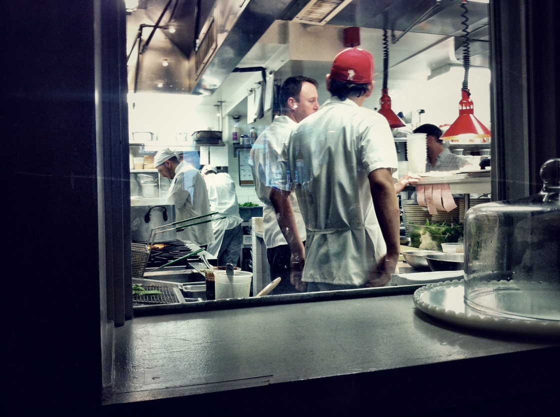 A view inside the kitchen at chef Peter Hoffman's farm-to-table restaurant, Back Forty West, in New York's Soho neighborhood. Photo: Simon Doggett/Flickr