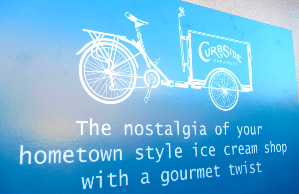 Curbside Creamery Sign
