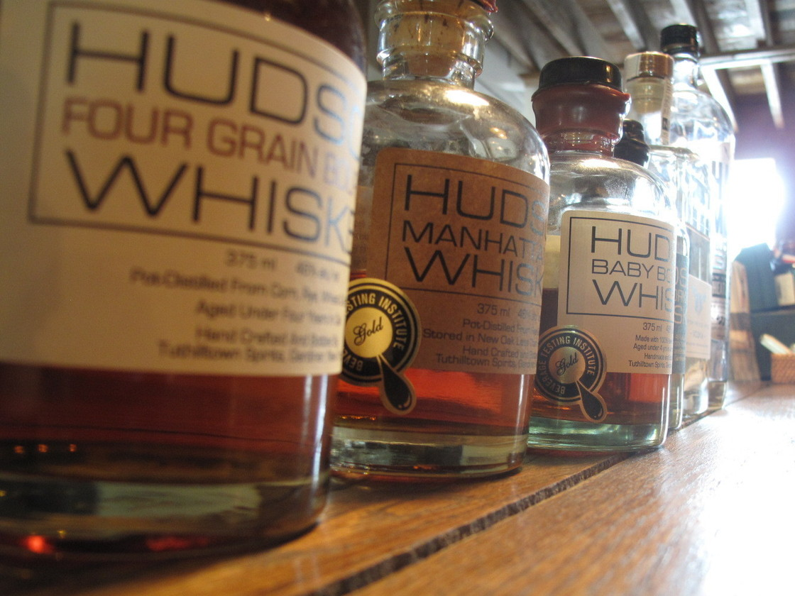 Tuthilltown Spirits in New York makes a clear corn whiskey, and the first legal aged whiskey in the state since Prohibition, among other products. Photo: Joel Rose/NPR