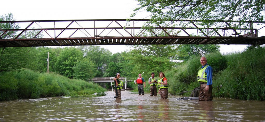 Research teams are monitoring 100 streams in the Midwest this summer. Photo: Abbie Fentress Swanson/Harvest Public Media