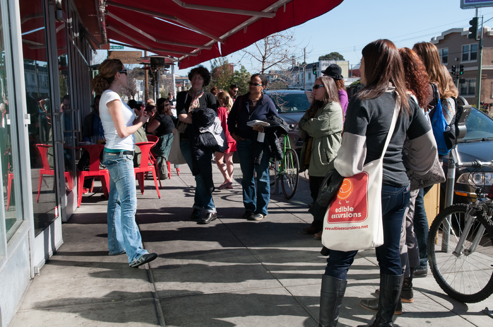 Edible Excursions tour in Oakland's Temescal neighborhood. Photo: Naomi Fiss