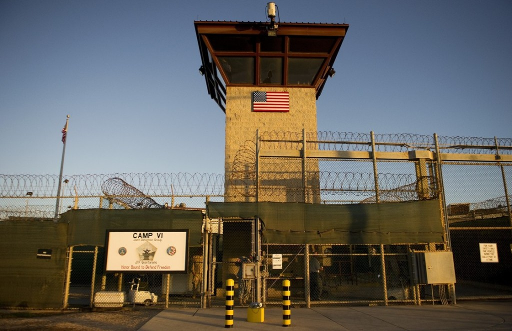 "This image reviewed by the U.S. military shows the front gate of ""Camp Six"" detention facility of the Joint Detention Group at the US Naval Station in Guantanamo Bay, Cuba. Photo: Jim Watson/AFP/Getty Images"