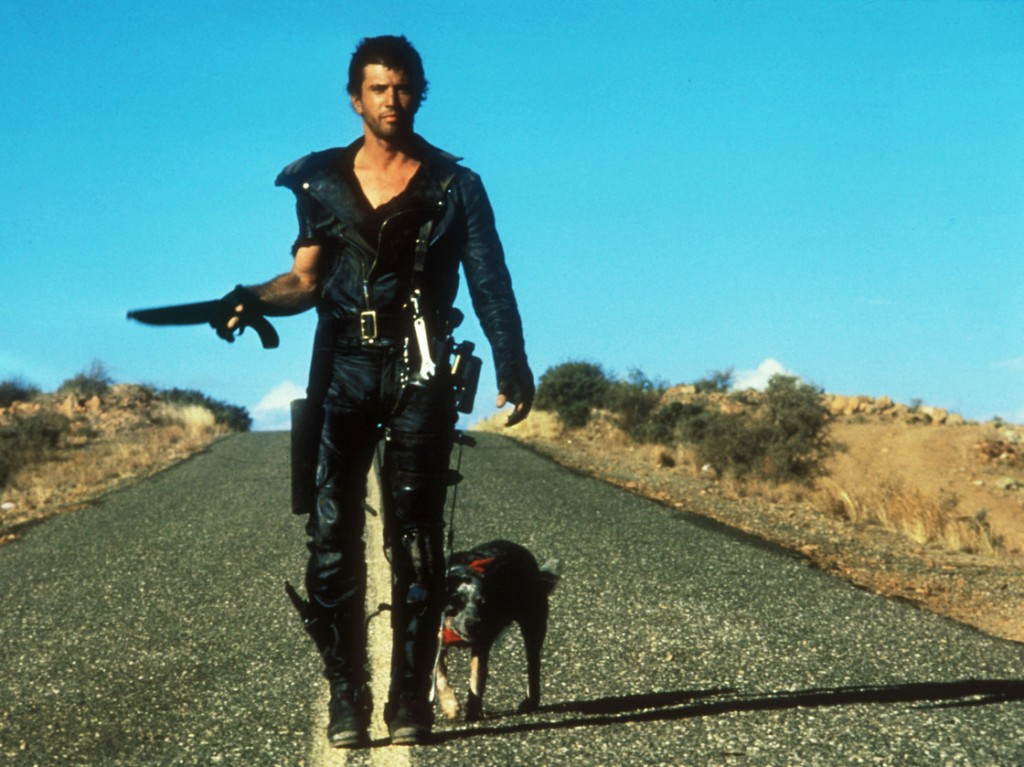 We see a fictional universe stripped of the most basic resources when Mel Gibson's character relishes a can of dog food in <em>Road Warrior</em>. Photo: The Kobal Collection
