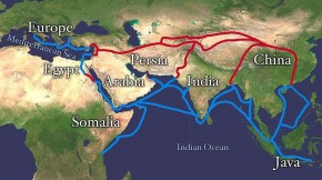 The Silk Road stretched from Eastern China to Europe and was the primary route for merchants in the ancient Chinese silk trade. Photo: Wikimedia Commons