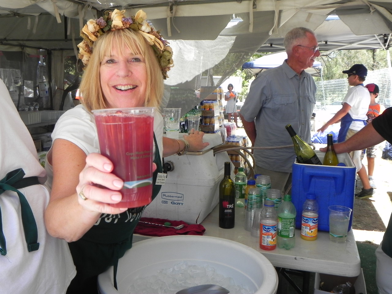 Homemade sangria was a popular item at the festival. It was second only to beer. Photo: Gina Scialabba