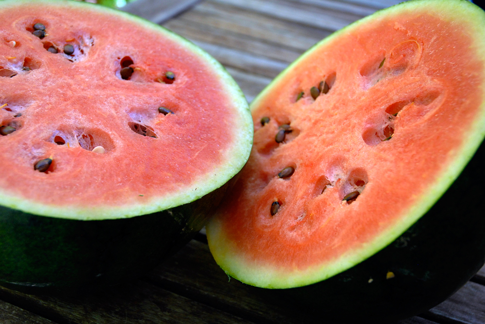 Watermelon in the summer is an excellent choice because it can actually prevent sunburn. Photo: Wendy Goodfriend