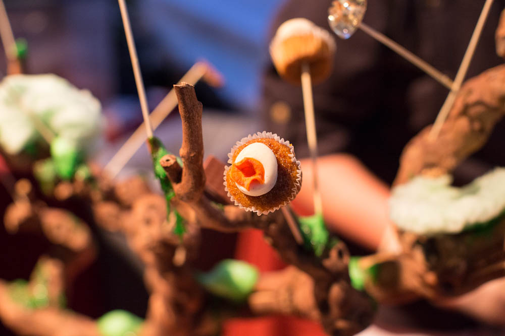 Carrot Ginger Cupcake on the Tree of Sweets (Morimoto Napa)