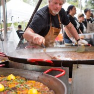 Gerard preparing his Lamb Chorizo Paella