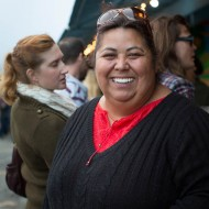 Guisell Osorio selling her empanadas (Sabores Del Sur)