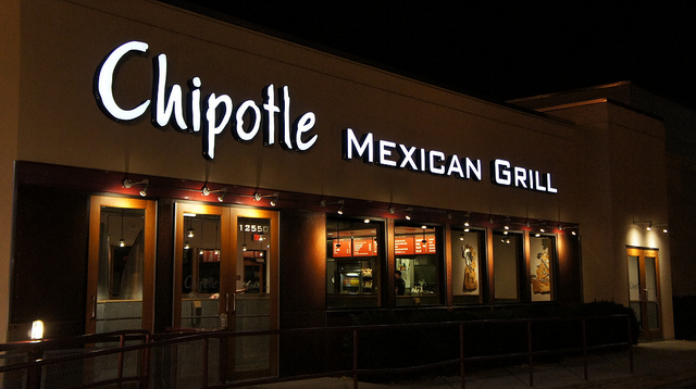 Chipotle Mexican Grill. Photo: Aranami/Flickr