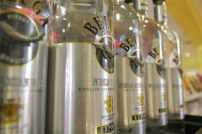 Vodka is a popular item at Royal Market and Bakery. Photo by Sara Bloomberg