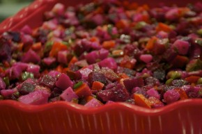 Beet salad is one of the many fresh deli items available at Royal Market and Bakery. Photo by Sara Bloomberg
