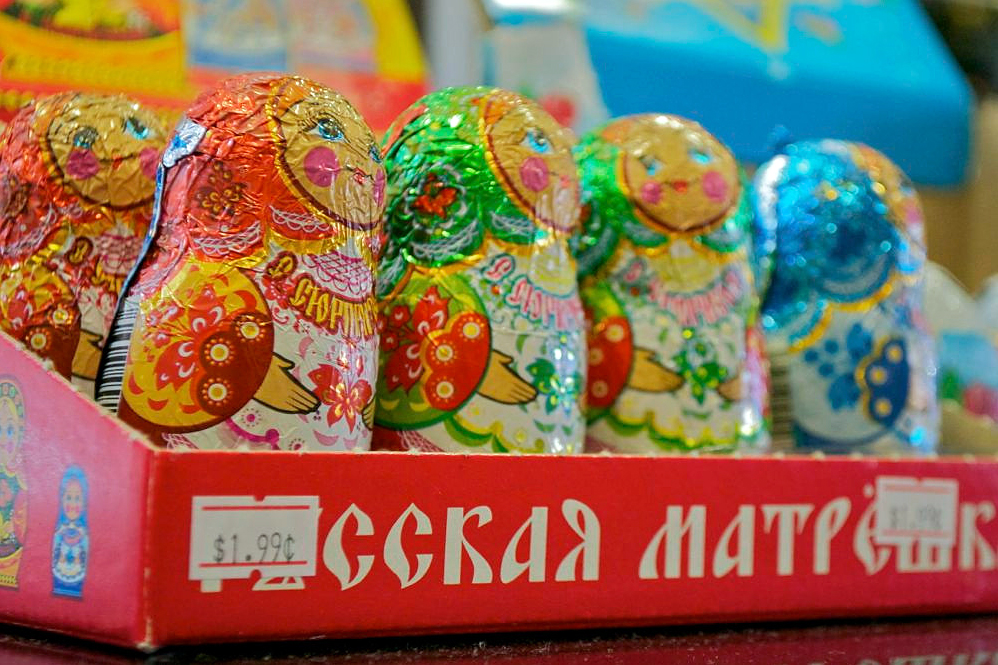 "Chocolate ""babushka"" dolls. Photo: Sara Bloomberg"