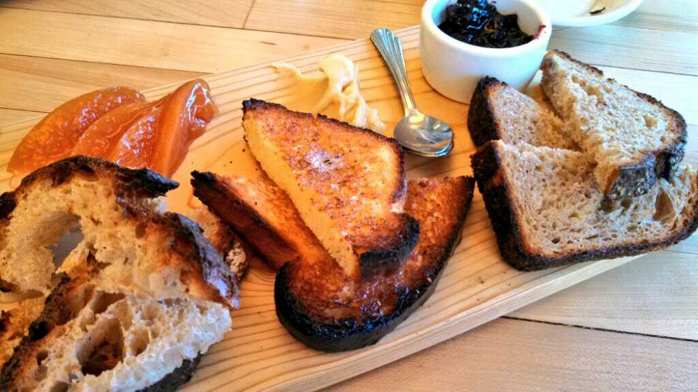 The bread plate showcases different kinds of breads from MHBB. Photo: Kelly O'Mara