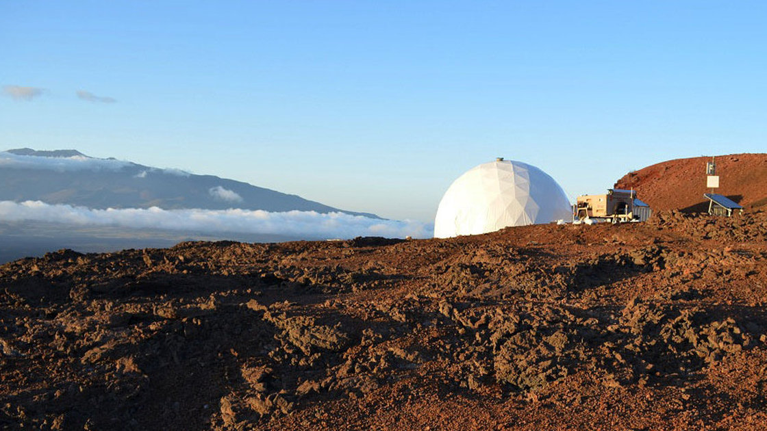 Mission to Mars: Six explorers lived in this simulated Mars habitat in Hawaii for four months, part of a NASA study to test the role of cooking and food on an extended space mission. Photo: Sian Proctor/NASA HI-SEAS