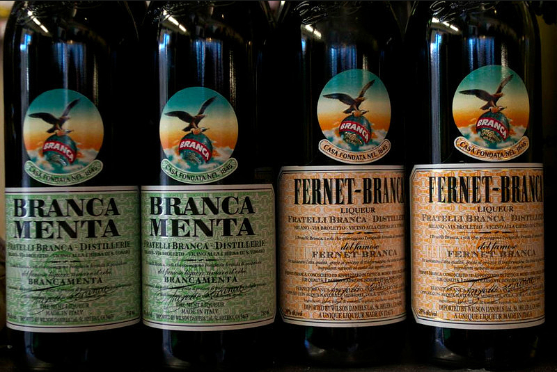 Branca Menta and Fernet-Branca at Lucca Ravioli Company. Photo: Sara Bloomberg