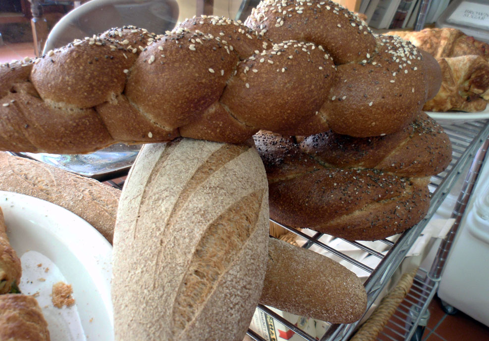 All the breads at Ponsford's Place, Craig Ponsford's bakery in San Rafael, are made with 100% whole wheat. Photo: Kelly O'Mara