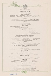 This vintage 1935 menu from the Royal Hawaiian Hotel lists flounder and red snapper, two local fish that an ecologist says have faded from Hawaiian menus over time. Photo: New York Public Library