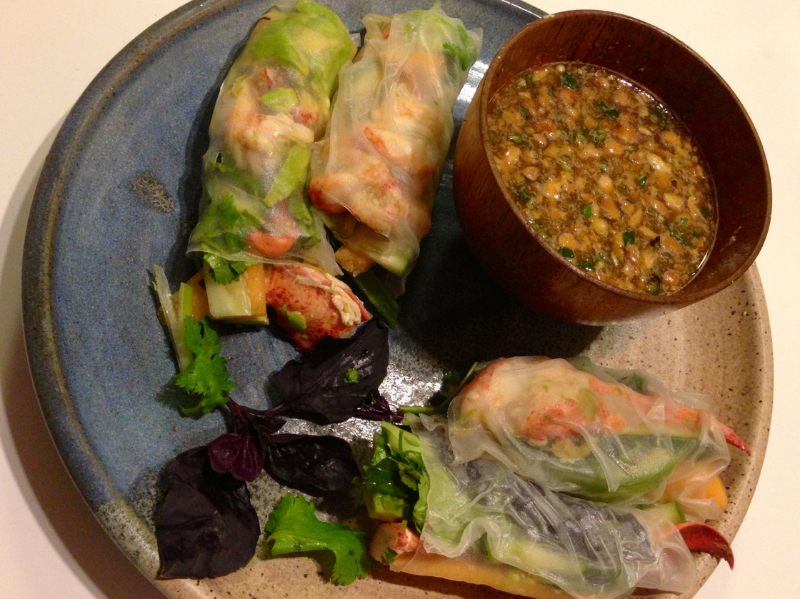 Vietnamese Salad Rolls with Lobster. Photo: Laura McCandlish/NPR