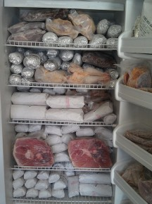Time for a meat locker? One Flickr user's freezer after purchasing a large share of a pig. Photo: Cowgirl Jules/via Flickr