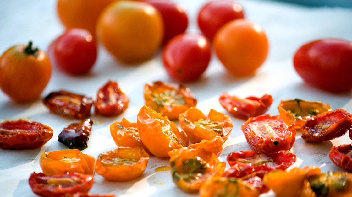 Roasted tomatoes. Photo: T. Susan Chang for NPR