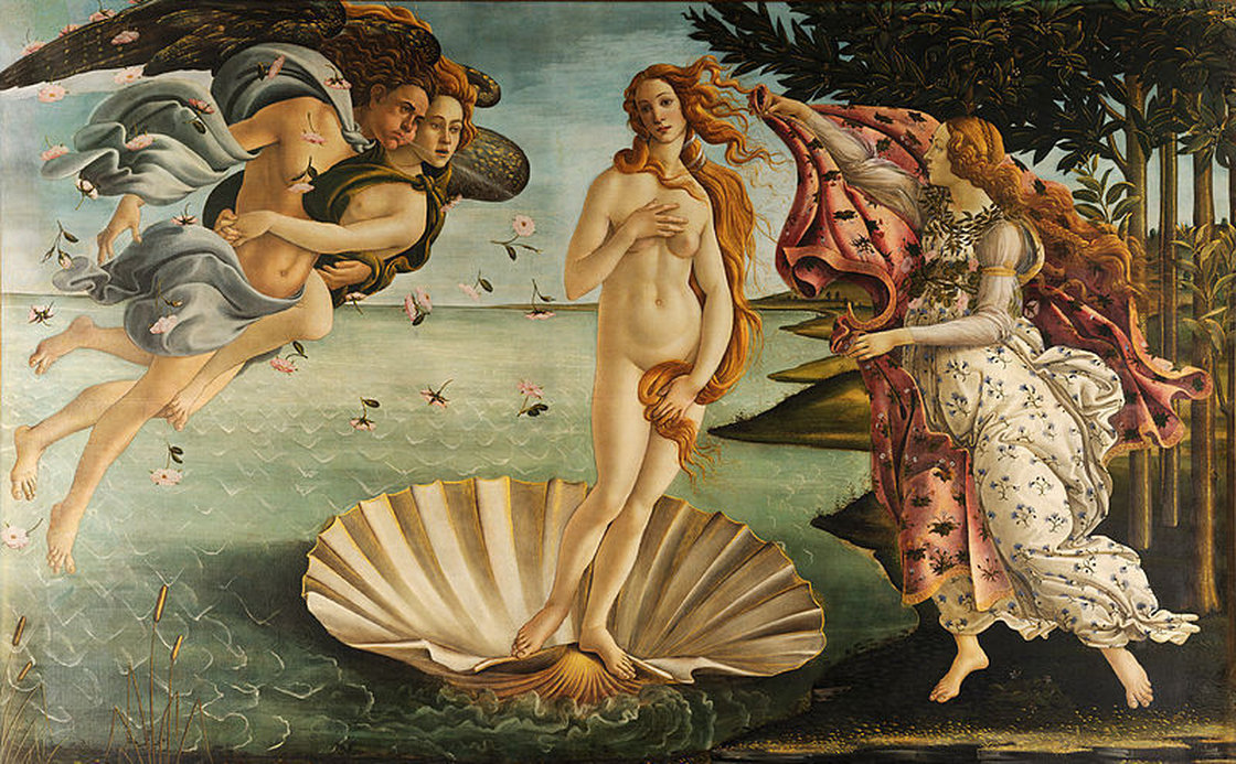 Even in Sandro Botticelli's painting <em>The Birth of Venus,</em> the goddess's belly resembles a plump, firm tortellino. Image: Wikimedia.org