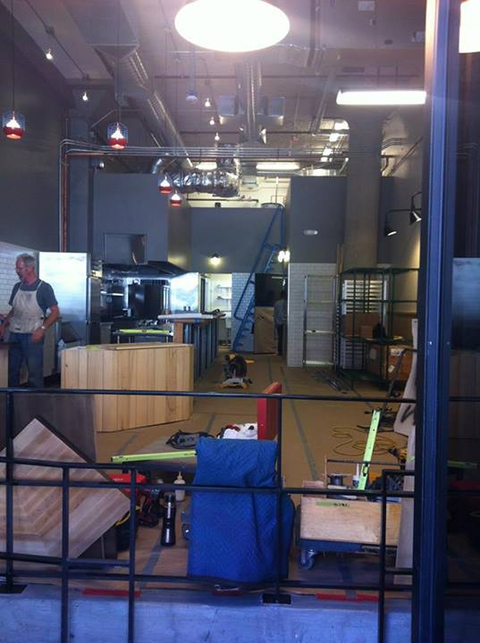The Buildout coming together. Photo courtesy of Merigan Sub Shop