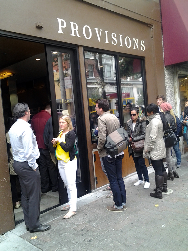 The dinner line outside State Bird Provisions this summer. Photo: Mary Ladd