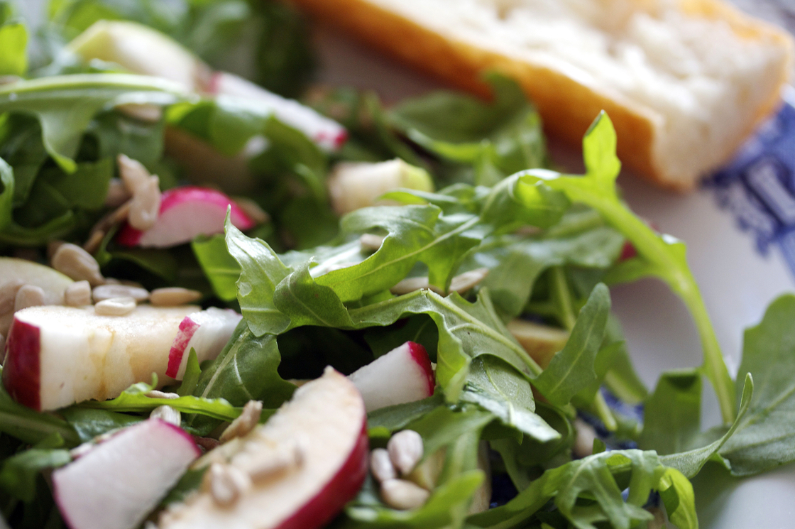 Apple and Arugula Salad with Lemon Vinaigrette. Photo: Nicole Spiridakis for NPR