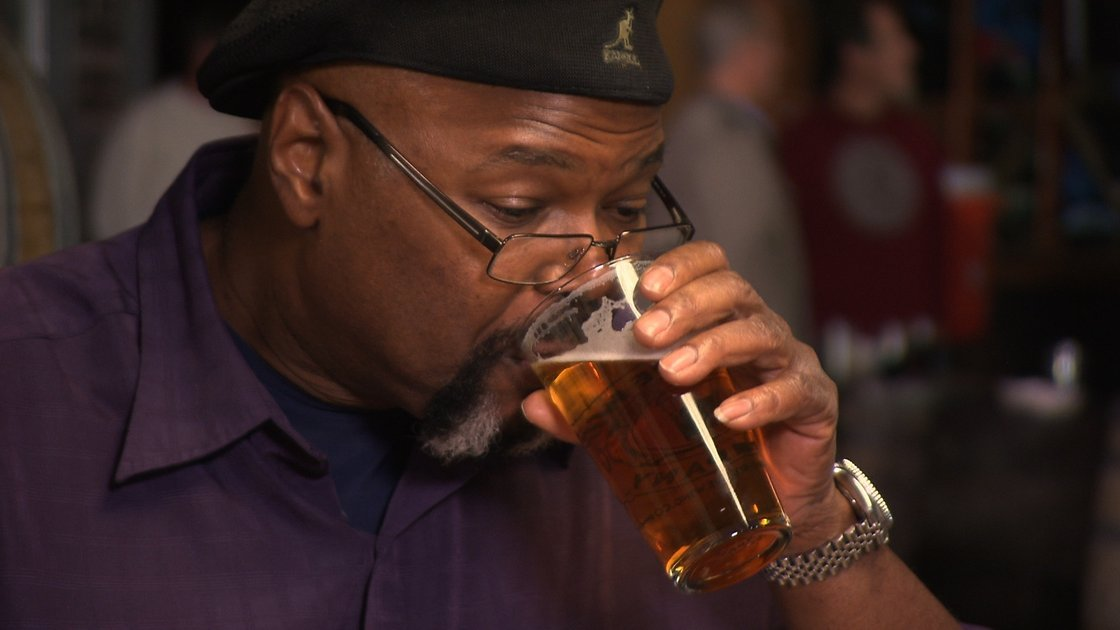 Michael Ferguson, of the BJ's Restaurants group, is one of only a small handful of African-Americans who make beer for a living. Photo: Greg Barna/Courtesy 'Beer Geeks'