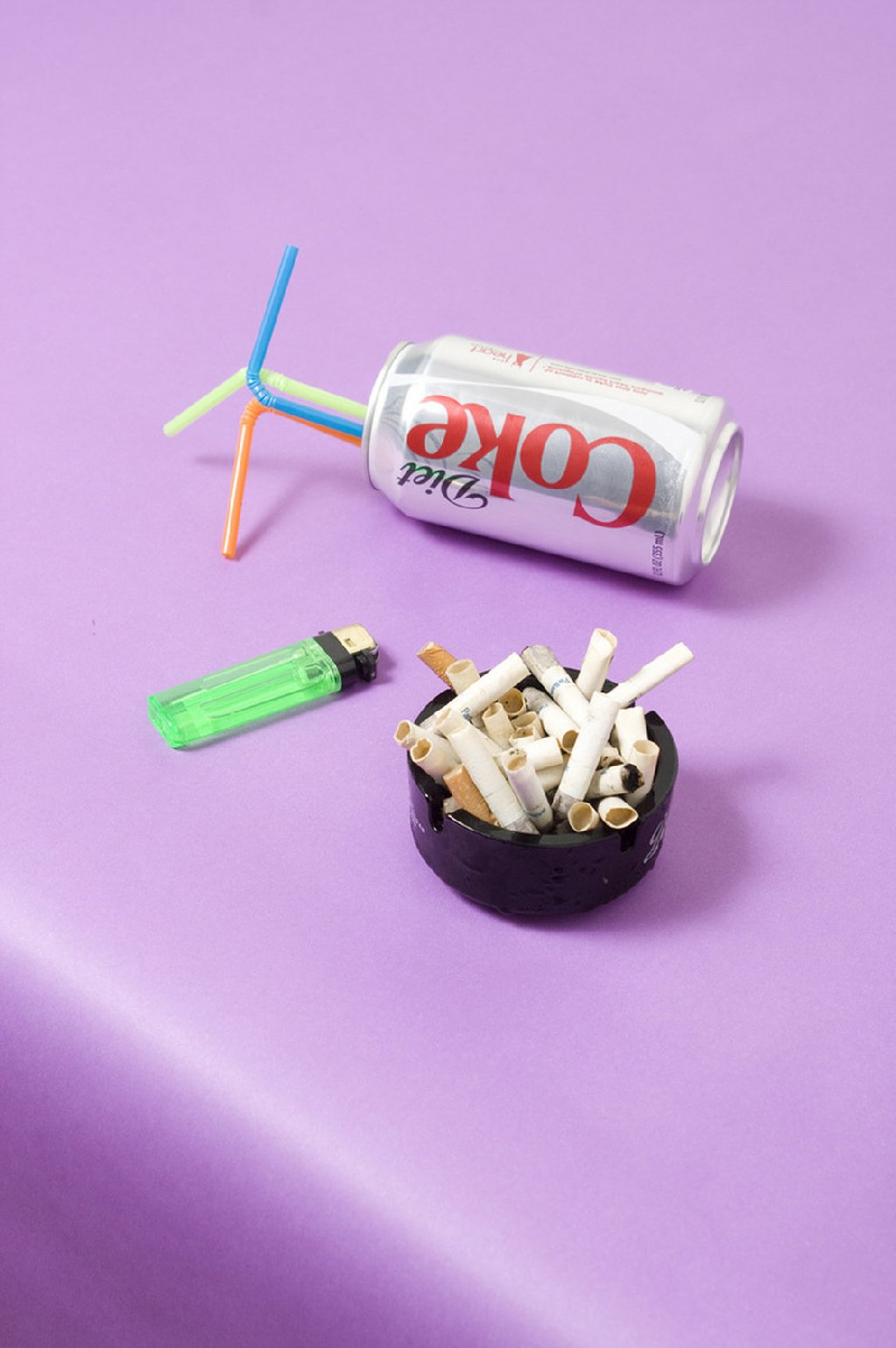 "<strong>The Model Diet:</strong> This was Gonot's tongue-in-cheek take on popular perception of how models keep their appetites in check. ""You hear that models drink coffee and smoke cigarettes all day, or you see them holding a Diet Coke behind the scenes,"" Gonot says. Photo: Stephanie Gonot/Courtesy of the photographer"