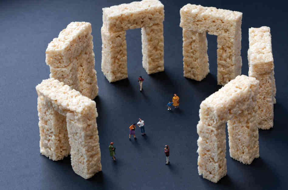 "Rice Krispies Treats Stonehenge: ""Famous landmarks always look different from how they appear in photographs."" Photo: Christopher Boffoli/Courtesy Workman Publishing"